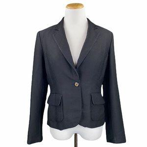 Calvin Klein Black Crepe Single Button Blazer